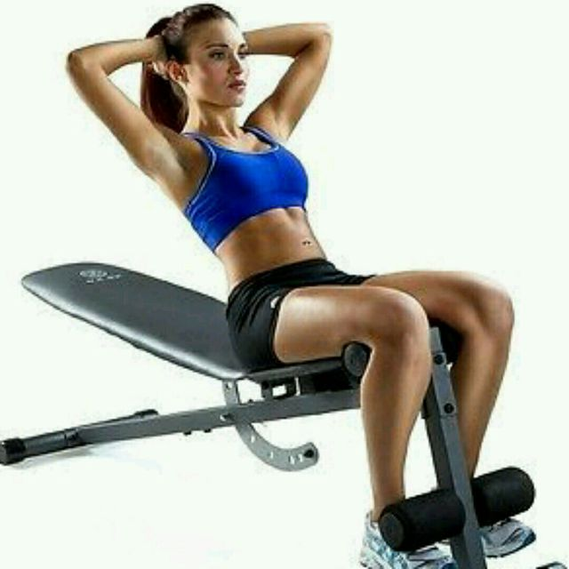 flat bench sit up exercise how to workout trainer by skimble. Black Bedroom Furniture Sets. Home Design Ideas