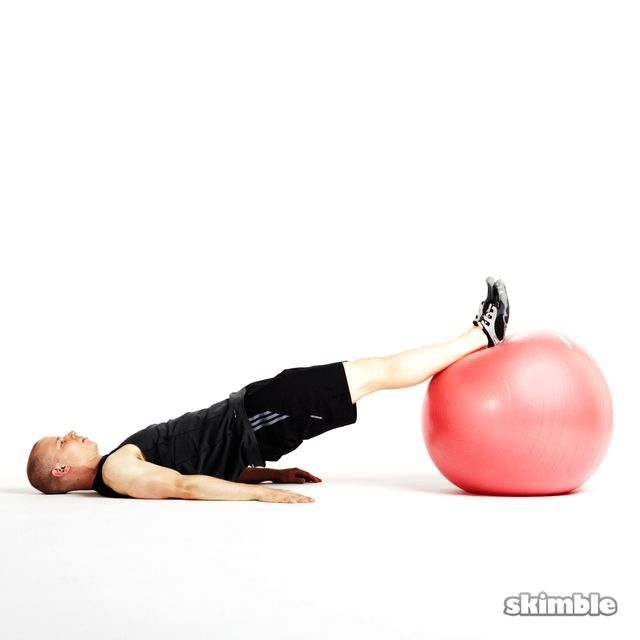 Stability Ball Glute Bridge: Workout Trainer By Skimble