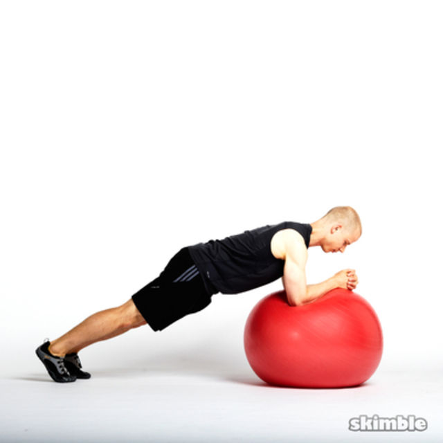How to do: Ball Mountain Climbers - Step 2