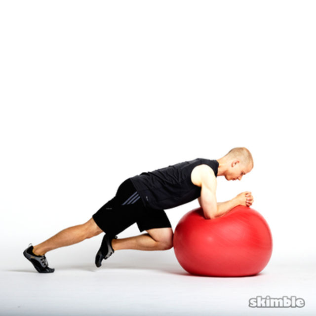 Ball Mountain Climbers Exercise How To Workout Trainer By Skimble