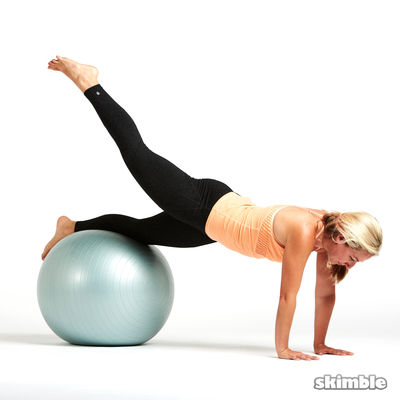 Ball Plank with Leg Lifts