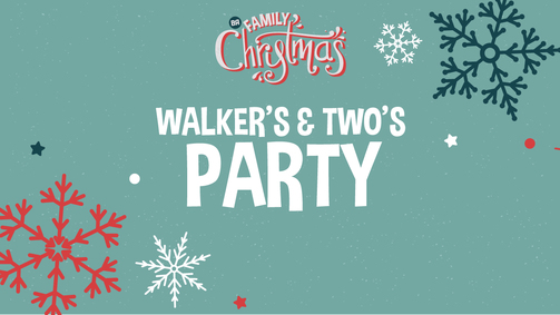 Family christmas walker twos party