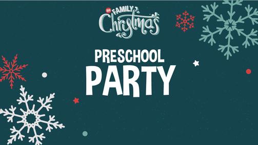 Family christmas preschool party