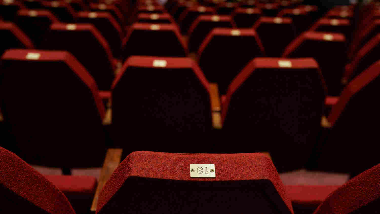 Photodune 14710799 empty red theater seating m
