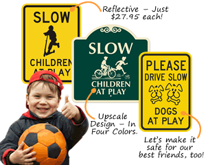 Children-at-play-signage