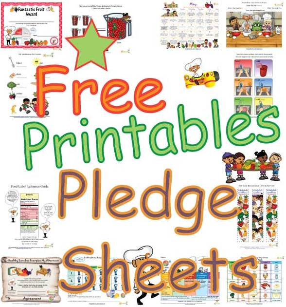 Printable Healthy Habits Goals Pledge Sheets for Kids - Eating ...