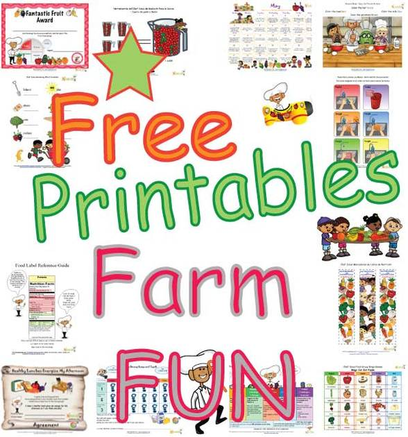 Farm Fun Activities for Kids Free