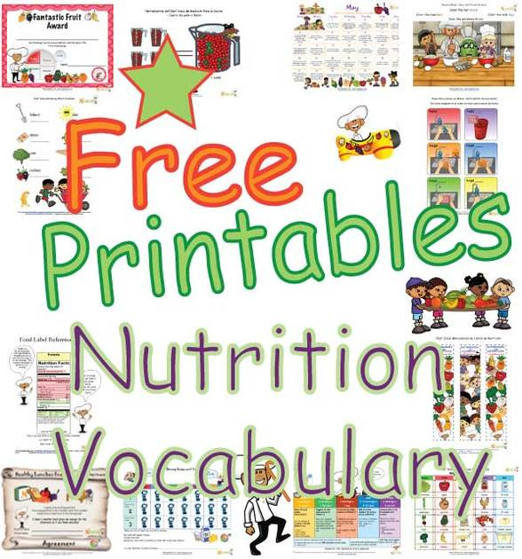 nutrition vocabulary words learning about nutrition words for