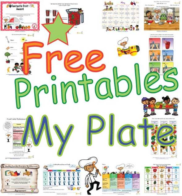 My Plate Healthy Food Choices Balanced Meal Food Printables For – My Plate Worksheets
