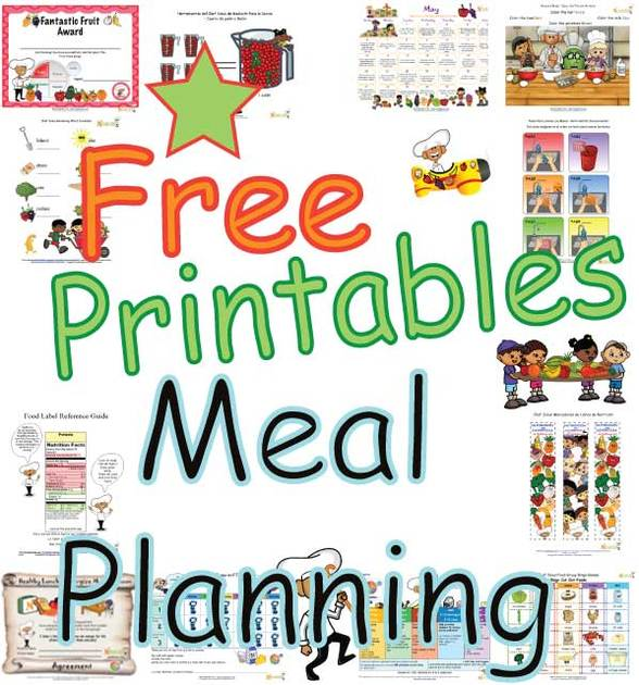 Easy Printable Healthy Eating Plans Planning Daily Meals For Kids Creating Balanced Food Groups Menu Planner