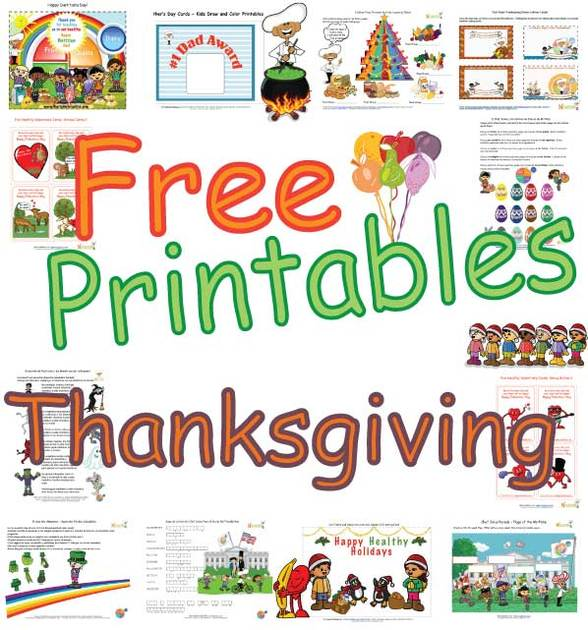 Free Printables Kids Thanksgiving