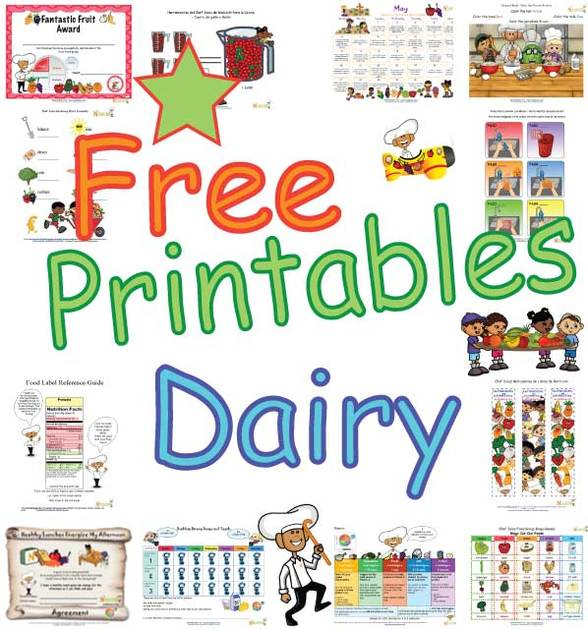 Dairy Food Group - Growing Healthy Bones and Teeth - High Calcium Healthy Foods of MyPlate and