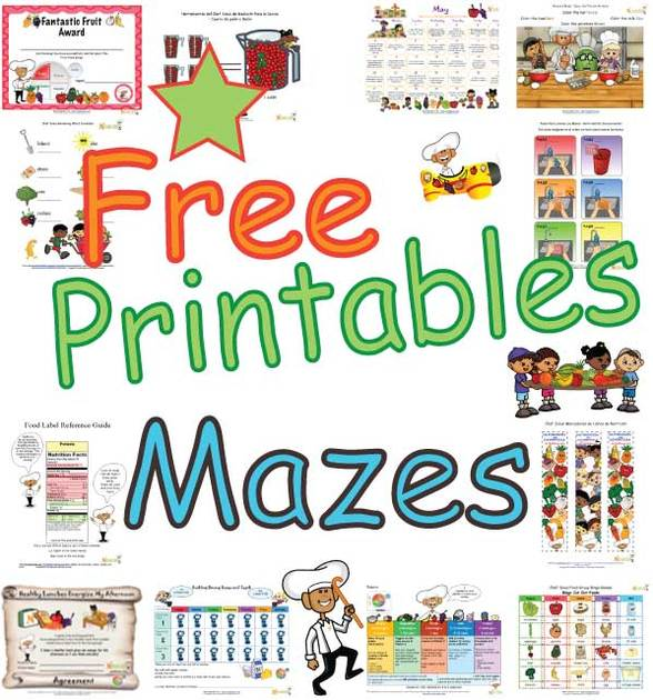 free kids healthy maze puzzles fun printable maze puzzles for k 5
