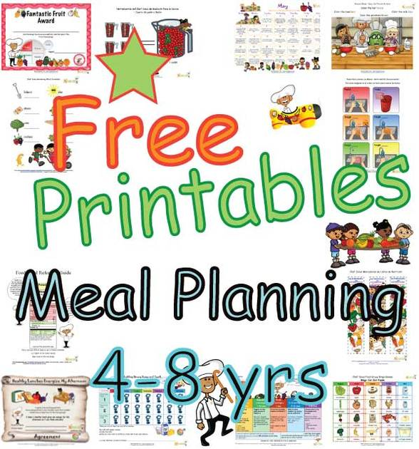 Summary Meal Plans For Four To Eight Year Old Children Food Groups