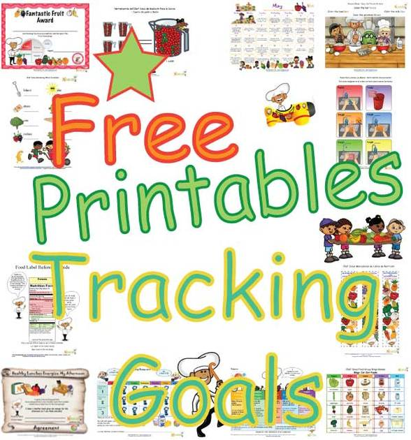 printable healthy habits goals tracking sheets for kids eating