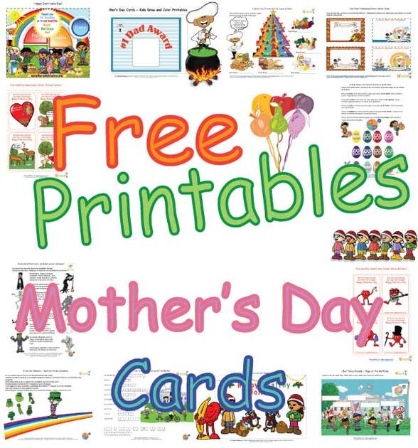 Mothers Day Cards For Kids Cute Coloring Pages Free Printables Fun Nutrition Themed