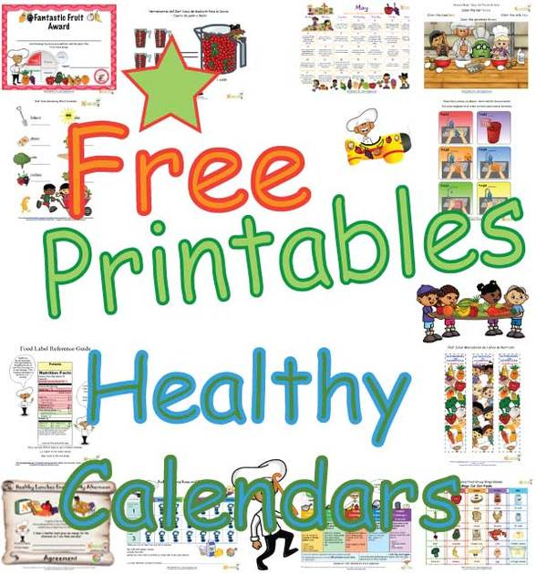 Healthy Daily Tips For Kids Monthly Calendar Free Fun Tip A Day
