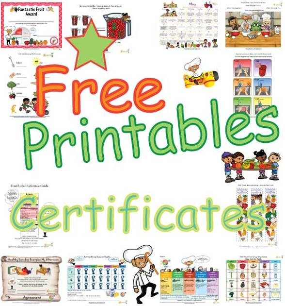 Nutrition And Fitness Certificates For Children  Printable Awards