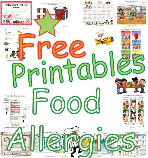 Food Allergy Worksheet For Children Teaching Children