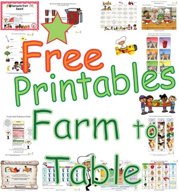 Farm to Table Food Activities for Kids, Fun Healthy Farm Food ...