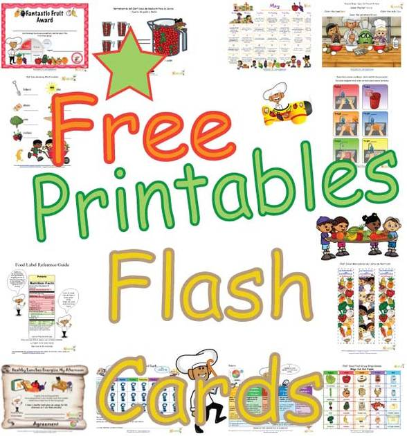 Food Group And Activity Flash Cards For Kids Healthy Foods Cut Out