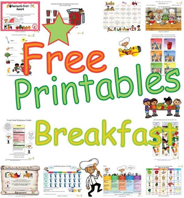Healthy Breakfast Printables - Teaching Children The Importance Of A ...