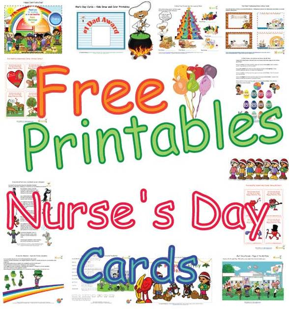 cute nurses day cards for kids healthy foods coloring pages and printable cards