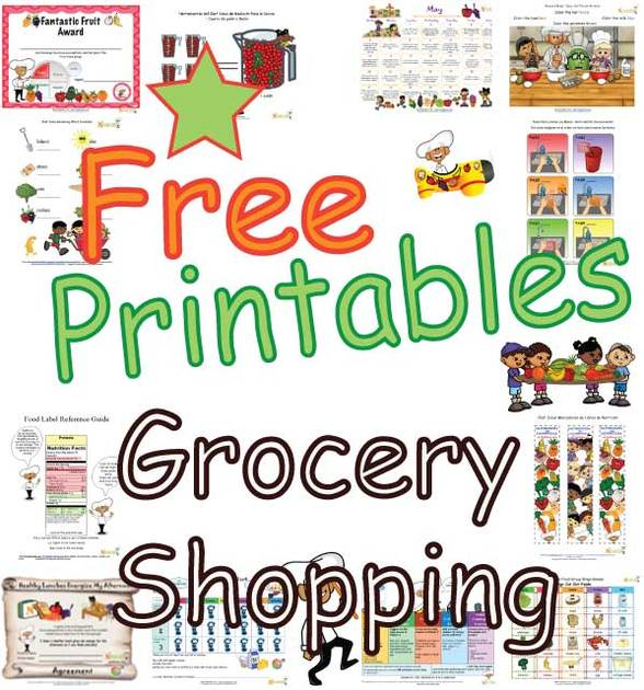 Grocery Shopping Worksheets For Children - Kids' Farm To Fork and ...