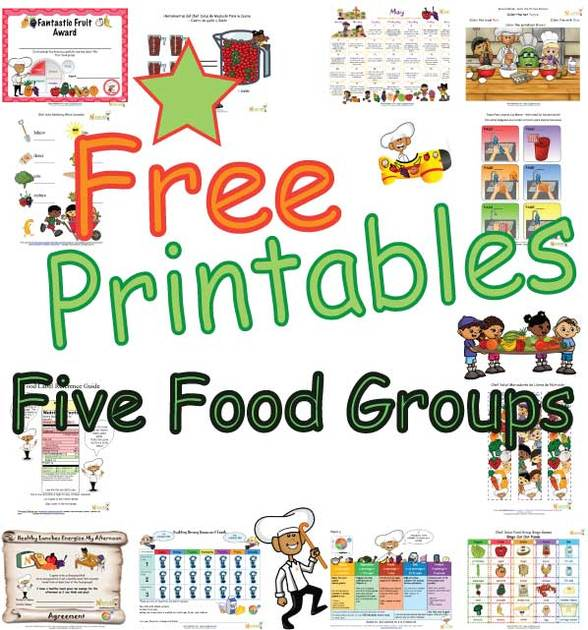 Five Food Groups Learning And Activity Sheets