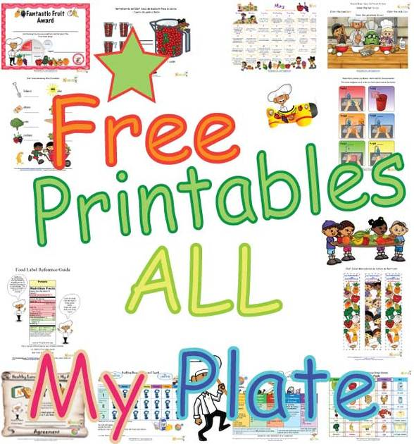 Free Worksheets myplate gov worksheet : My Plate Printables For Children