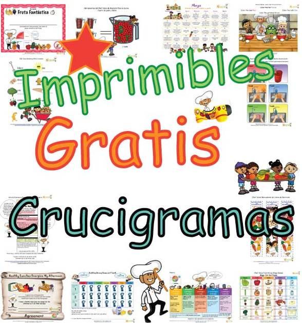 Páginas de Crucigramas de Palabras de Nutrición Gratis Para Niños ...
