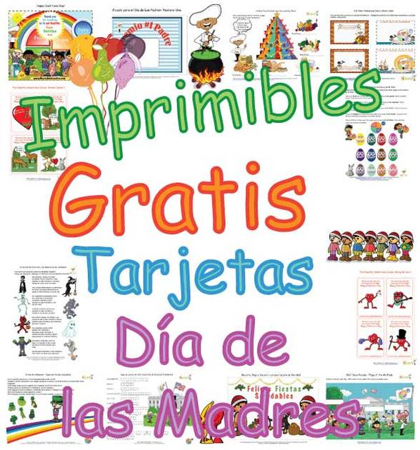 Tarjetas Para Niños Para El Día De Las Madres Bonitas Páginas Para