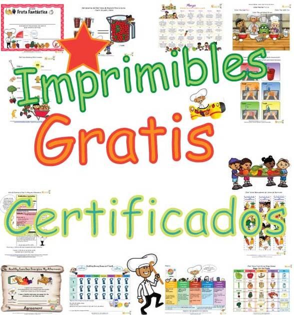 Certificados de nutrici n y ejercicio para ni os premios for Estudiar jardineria