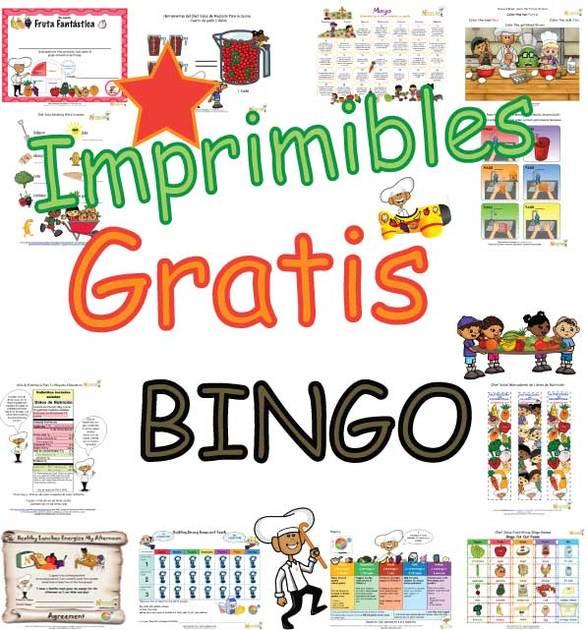 Cartones de Bingo de Los Grupos Alimenticios Para Niños - Actividad ...