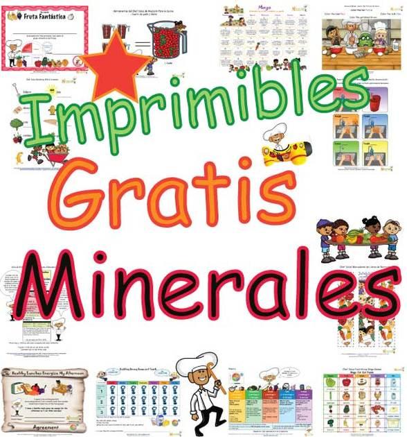 Minerales - Enseñar A Los Niños Acerca De Los Alimentos Ricos En ...