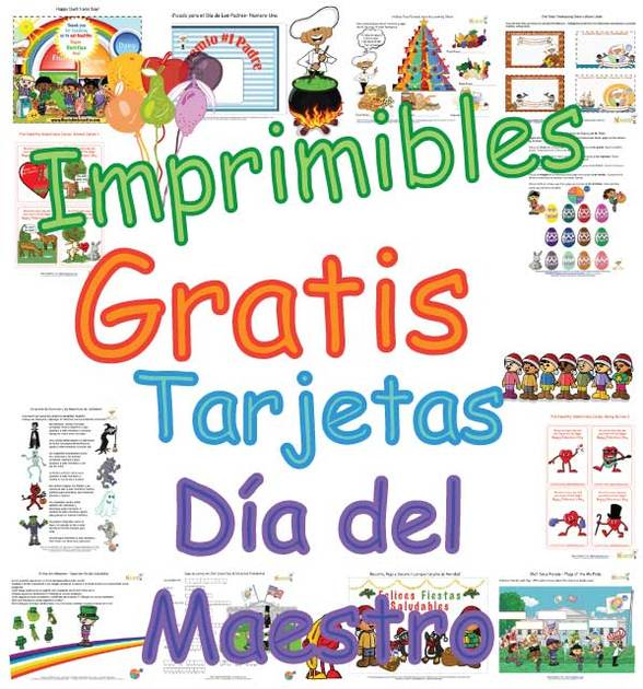 Bonitas Tarjetas Para el Día del Maestro Para Niños - Páginas Para ...