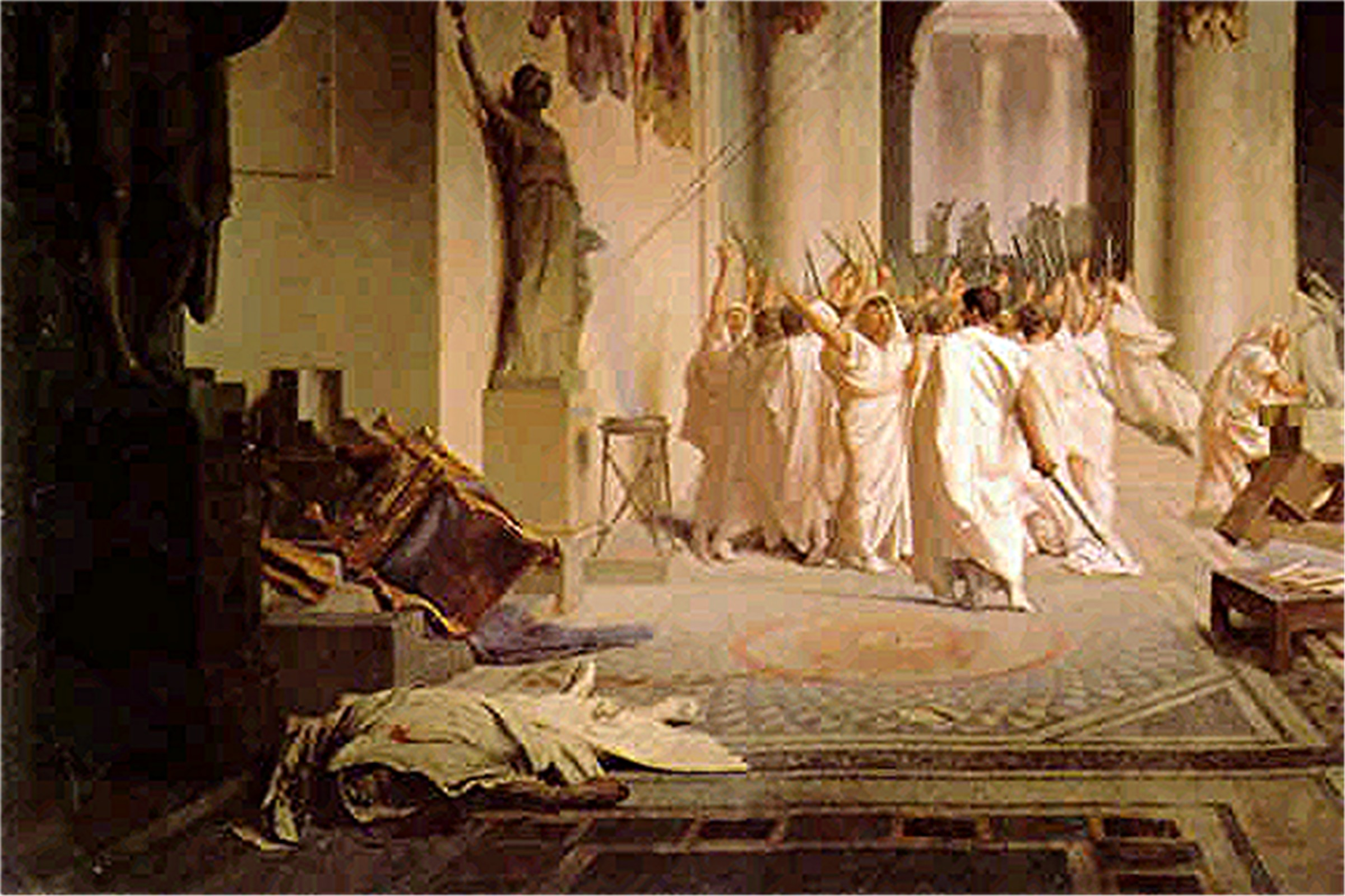 a report on the assassination of julius caesar In the assassination of julius caesar,  report abuse catamaran'78 50 out  parenti uses the story of julius caesar and his assassination to illustrate the.