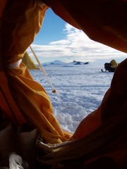 Caption: A view from the tent, Credit: Cari Corrigan
