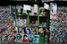 Caption: Bollywood posters for sale in an Afghani store, Credit: AP