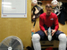 Caption: Tyler Sloan in the Washington Capitals locker room, Credit: Chris Nelson/mediachameleon