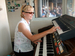 Caption: Nancy Faust, White Sox organist for 41 Seasons, Credit: Philip Graitcer