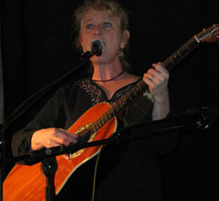 Caption: Jan Luby at Stone Soup Coffeehouse , Credit: Rhonda Miller