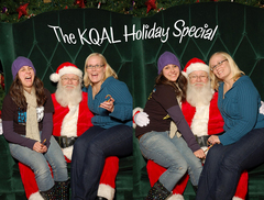 Caption: Anna Flores (Left) Santa (Center) Terese Tenseth (Right), Credit: Santa Claus