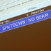 Caption: Shutdown screen at Cern, Credit: Andy Duckworth