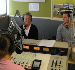 Caption: Stephanie interviews Courtney and Eric, Credit: Anthony Fleury