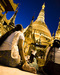 Caption: A woman prays at Shwedagon Pagoda in the centre of Yangon, Myanmar., Credit: Christopher Davy