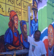 Caption: Chris Purdy at Little Haiti Mural, Credit: Mark Diamond