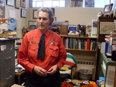 Caption: Temple Grandin in her office of 21 years at Colorado State University, Credit: Grace Hood
