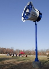 Caption: Miami University's first wind turbine, Credit: Sustainability Committee Website http://www.units.muohio.edu/sustainability/learning/classroom-learningmiami-dedicates-first-wind-turbine