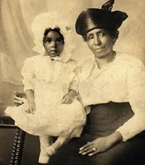 Caption: My grandmother as an infant, Credit: Family collection